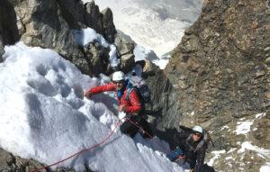 Firngrat Biancograt mit Bergführer