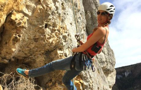 Kletterkurse Abseilen