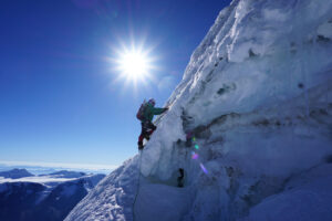 Climbing Toccllaraju